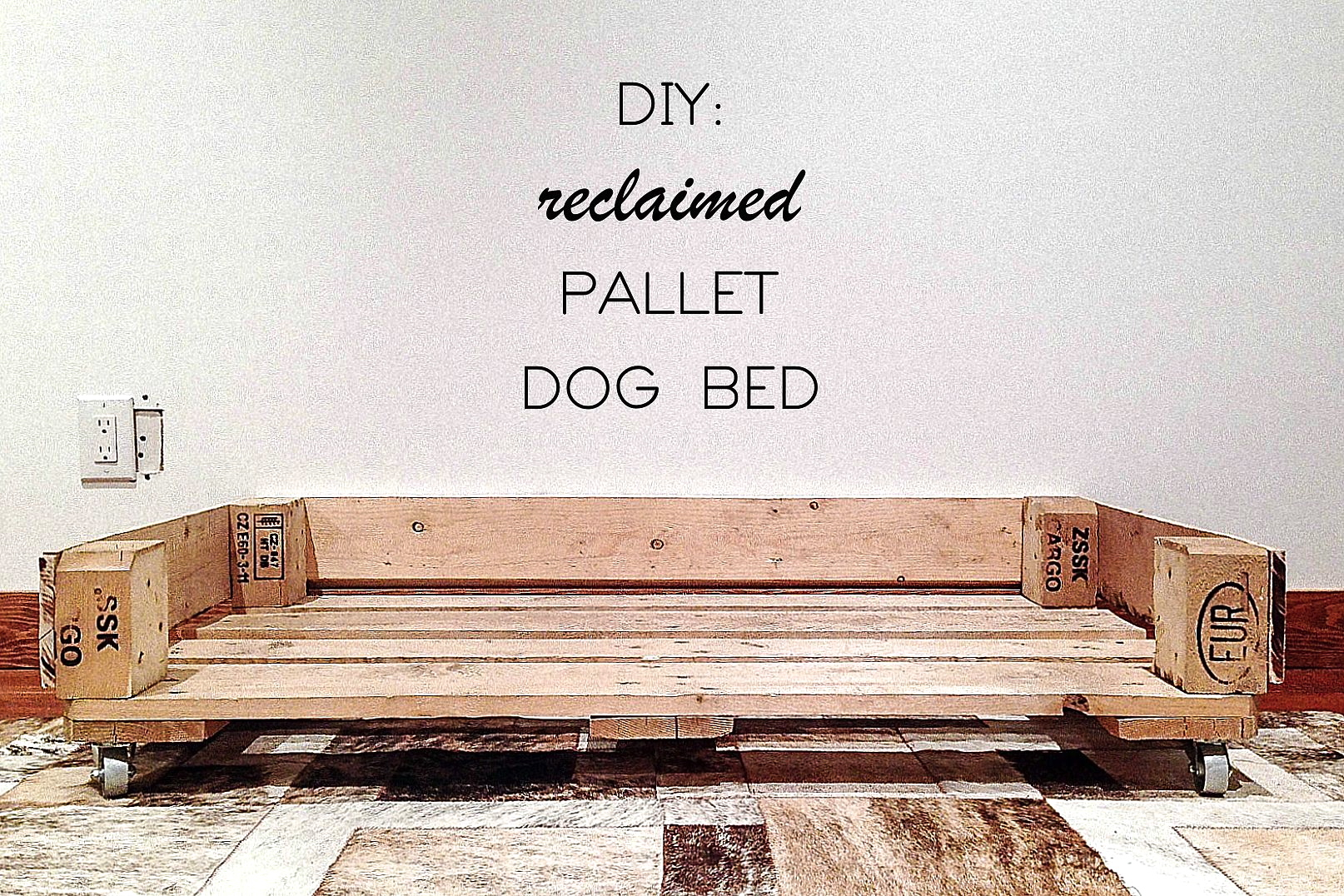 Make this wood pallet dog bed hello scarlett blog for Build a dog bed